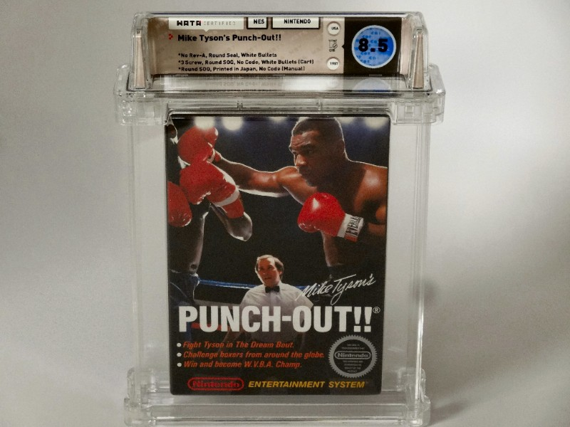 NES: Mike Tyson's Punch Out CIB - White Bullets Variant (1st Print)