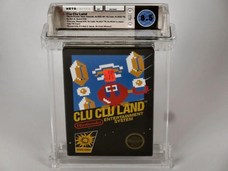 NES Clu Clu Land CIB - Matte Sticker Seal Variant (1st Print)