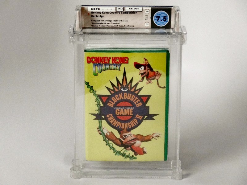 SNES: Donkey Kong Country Competition Cartridge CIB