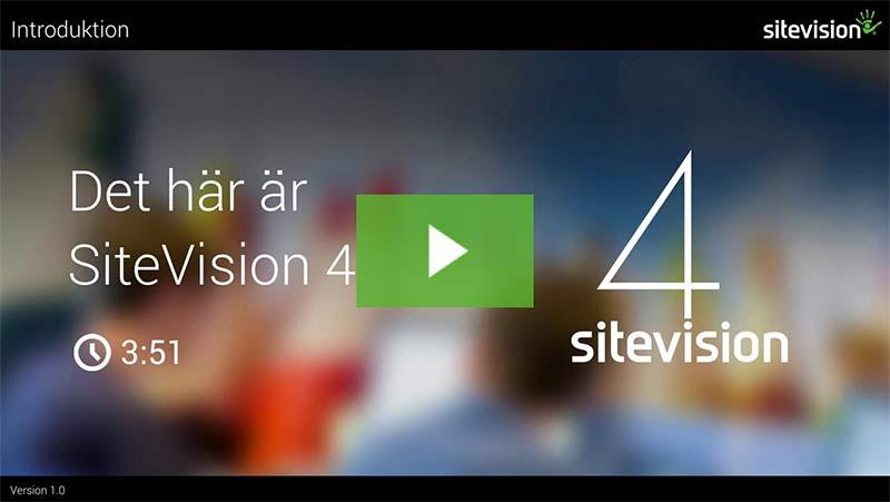 Se hur SiteVision 4 fungerar
