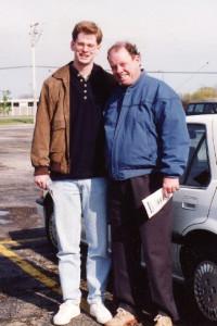 Brian Mack and hi Father in 1993