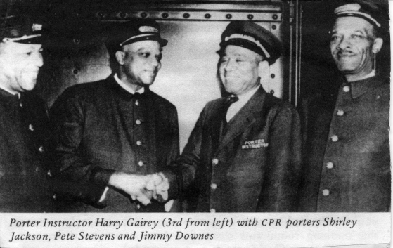 Harry Gairey with other CPR porters