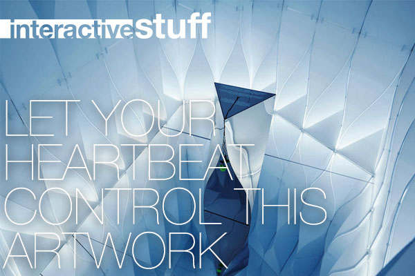 ▅▅ interactive stuff - Let your heartbeat control this artwork