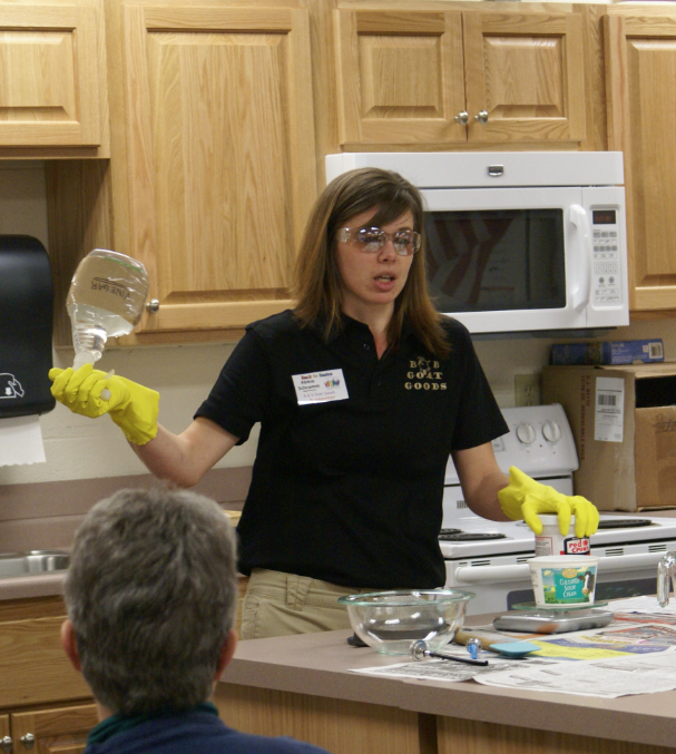 Abbie Schram during her Soapmaking 101 workshop.