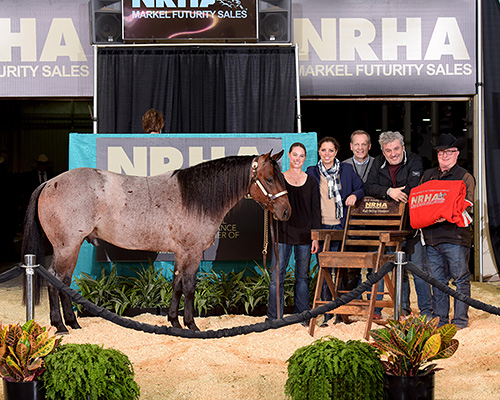 The evening was topped by the $175,000 sale of Custom Vintage Berry (© NRHA)