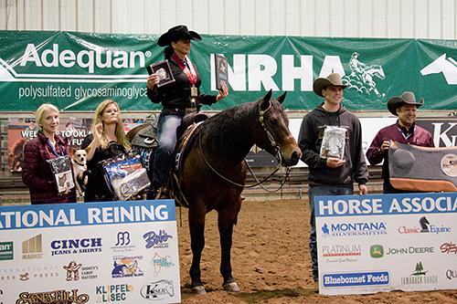 Brokaw rode KR Ima Dreamer (© NRHA)