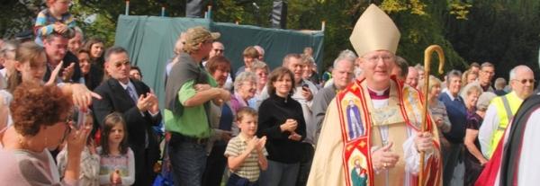 Bishop Alan arrives at the Cathedral