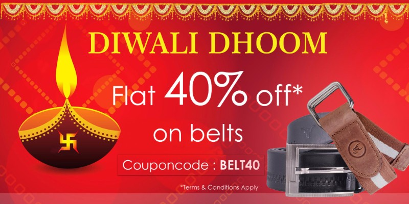 HideKraft: Flat 40% OFF on belts