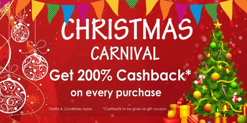 HideKraft: Christmas Carnival – 200% cashback on everything