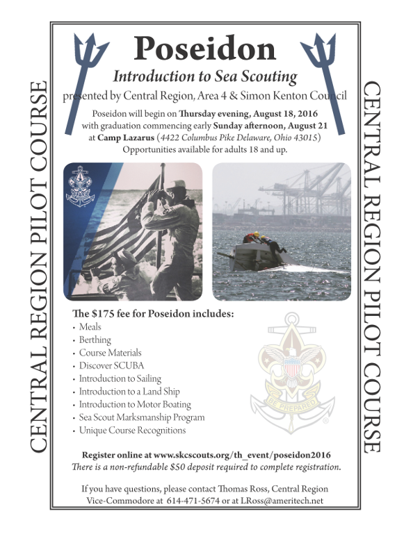 Poseidon - Introduction to Sea Scouting - August 18-21