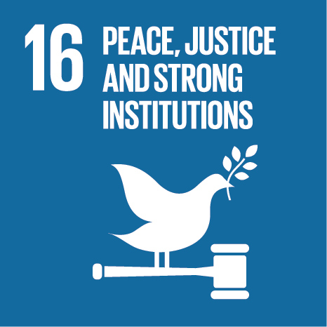 SDG #16 Peace, Justice and Strong Institutions