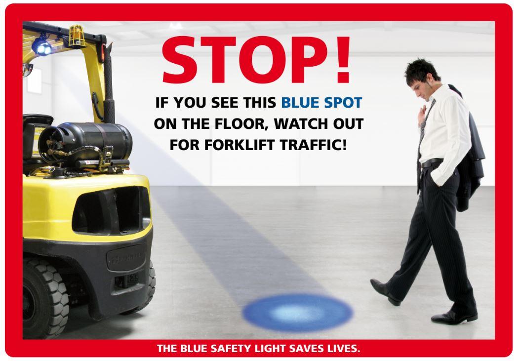 Statewide Forklift Blue Light