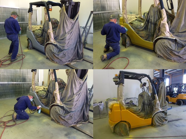 Statewide Forklift Spray Painting booth