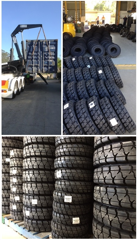 Statewide Forklift Solid Tyre delivery and stock