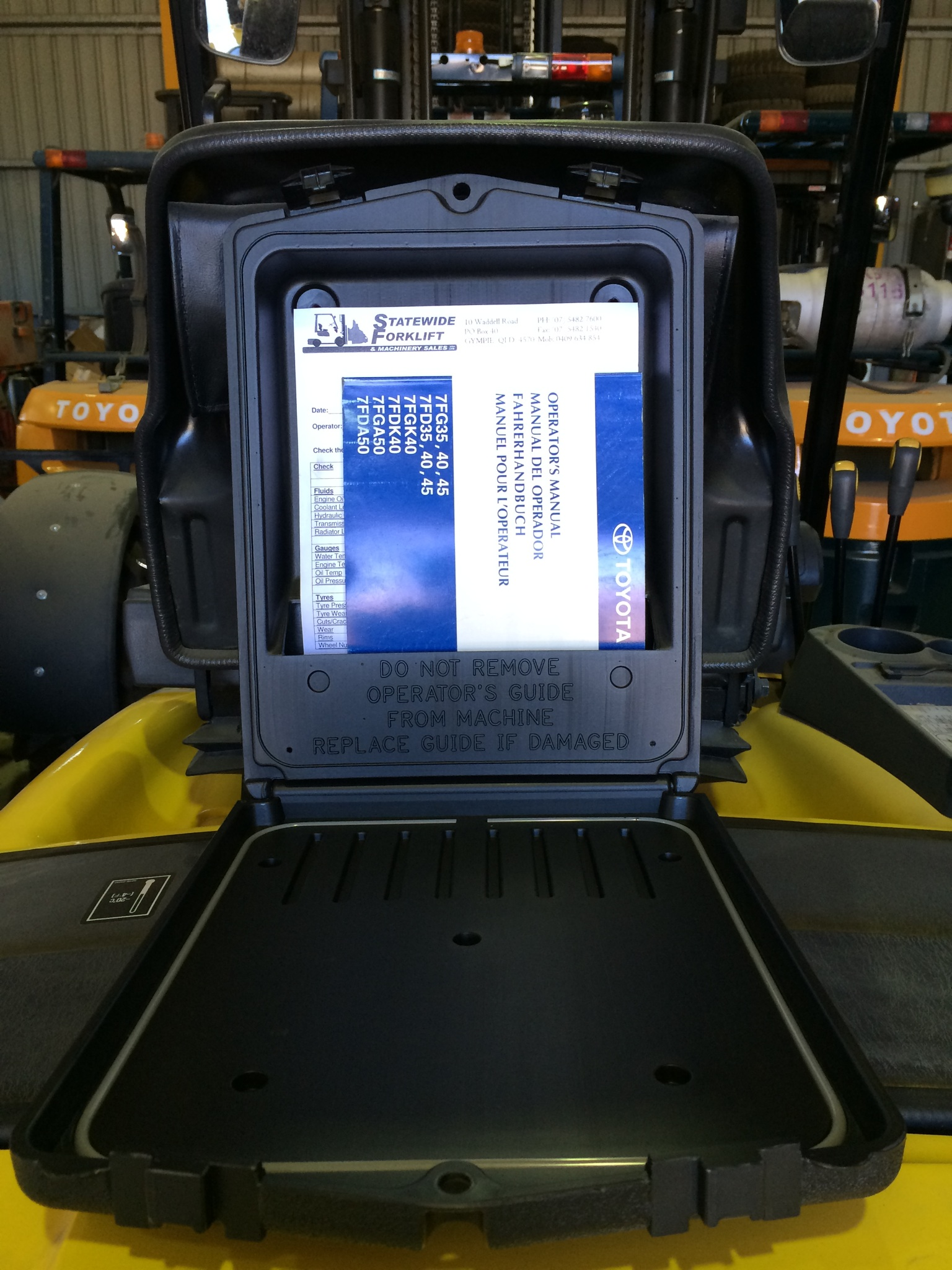 Statewide Forklift work manual cover