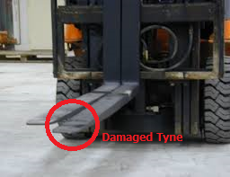 Statewide Forklift damage tyne