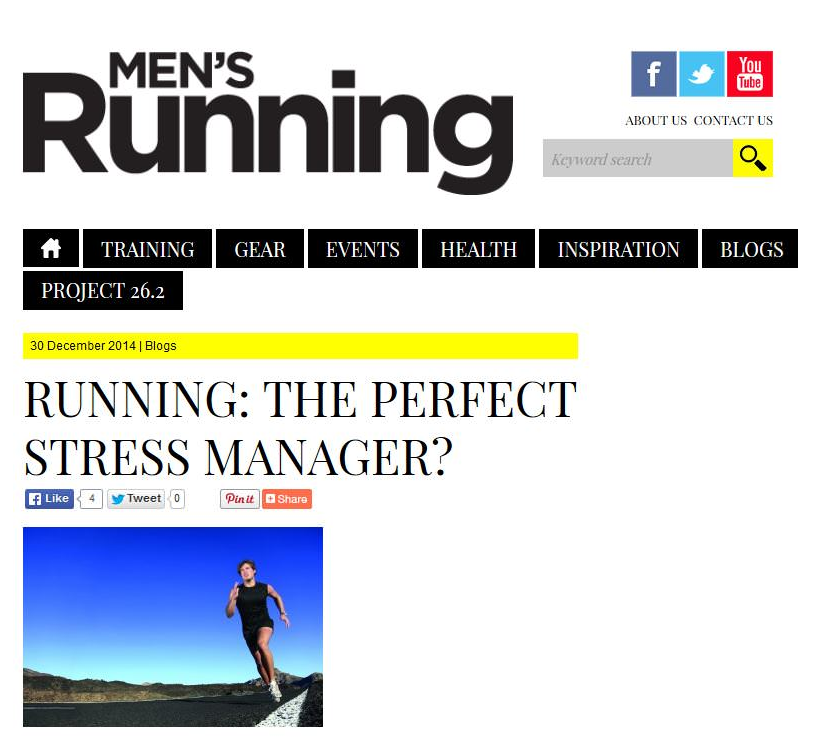 Men's Running Magazine: The Perfect Stress Manager?