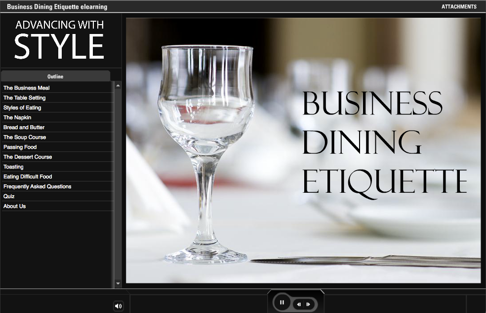 Business Dining Etiquette by Advancing With Style