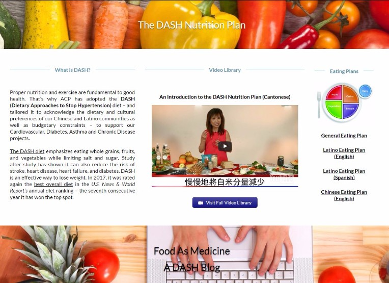 DASH Webpage ACP