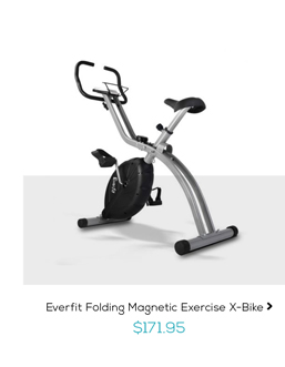 Everfit Folding Magnetic Exercise X-Bike