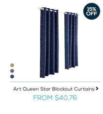 Art Queen Star Blockout Curtains