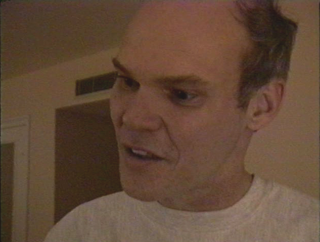 James Carville talks strategy in his hotel room in St. Louis prior to the debate.