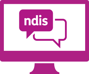 A monitor with a conversation with 'ndis' in it.