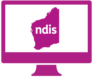 A monitor with Western Australia, and 'ndis' in it.