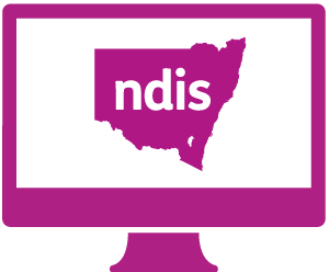 A monitor with a person working on a painting, with 'ndis' above it.