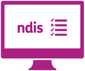 A monitor displaying 'ndis' and a checklist.
