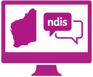 A monitor Western Australia, and a conversation with 'ndis' in it.