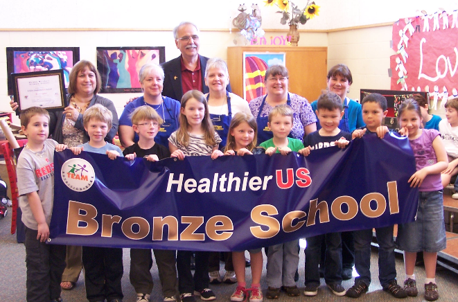 Kittery students, food service staff and administrators receive one of the nation's highest nutrition awards from the USDA's HealthierUS School Challenge.