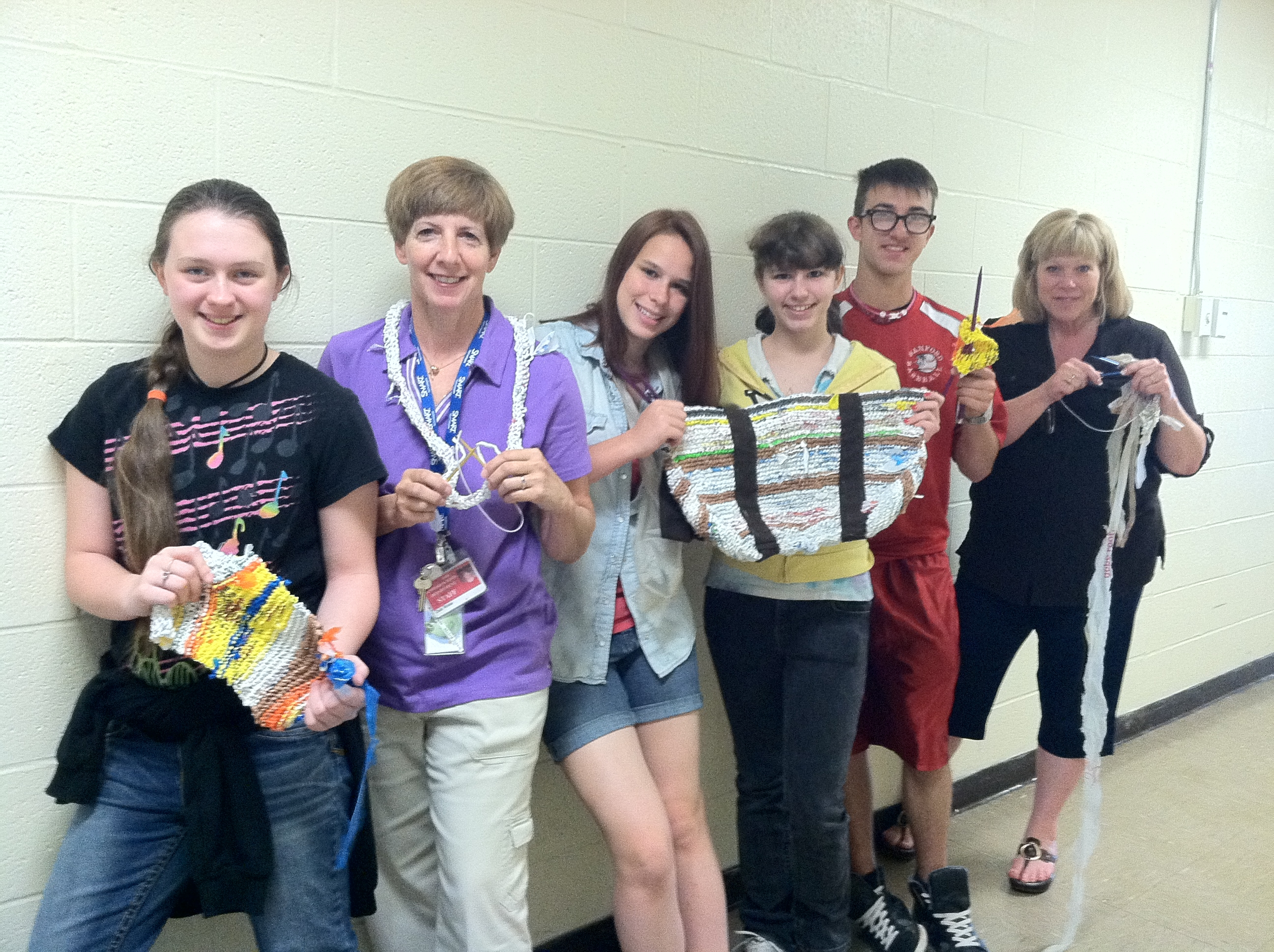 Sanford Junior High eighth graders competed nationally in the Siemen's We Can Change the World Challenge with their project aimed to decrease plastic bag use.