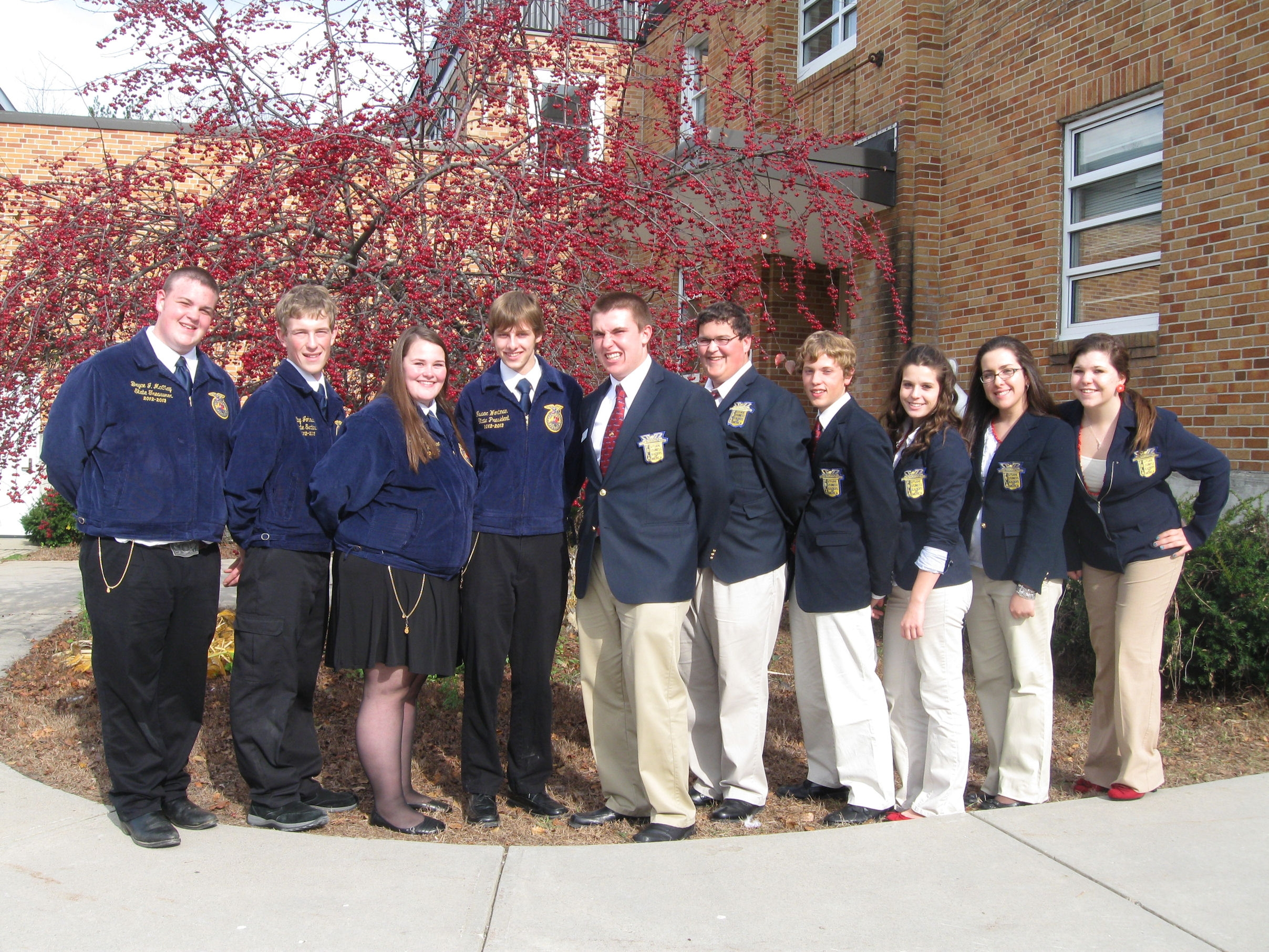 Maine FFA state officers and FBLA state officers joined forces to provide leadership training to high school students at the Augusta Armory.