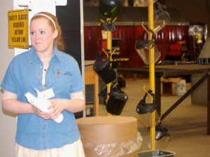 Bridge Year student Taylor Smith gives a tour of the United Technologies Center in Bangor. Smith is enrolled in the business management program at UTC and hopes to become a nurse.