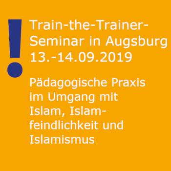 Textfeld Fortbildung Train the Trainer in Augsburg; ufuq.de