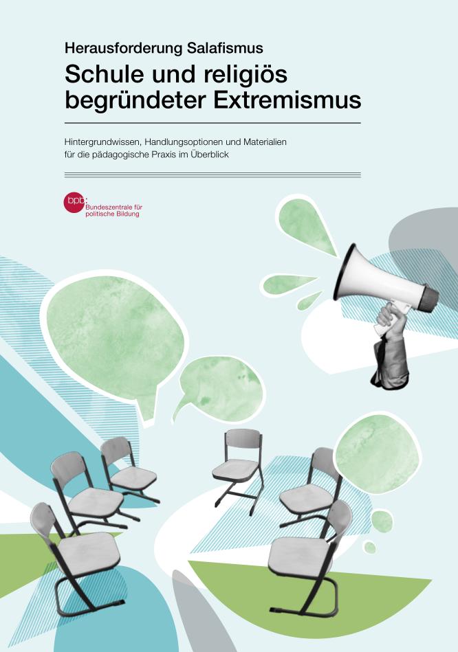 """Cover der bpb-Broschüre """"Herausforderung Salafismus – Schule und religiös begründeter Extremismus"""""""