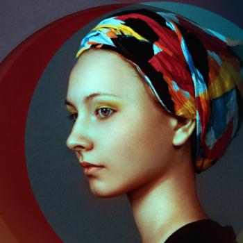 Gemälde (Ausschnitt) Frau mit Kopftuch; Bild: Rondell Melling/Pixabay