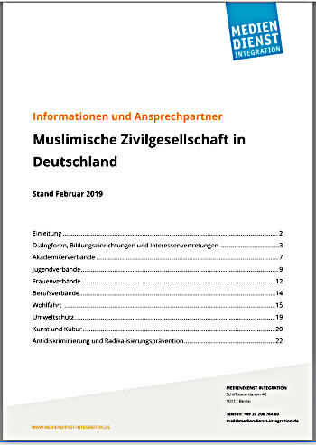 """Cover des Informationspapiers """"Muslimische Zivilgesellschaft in Deutschland"""""""