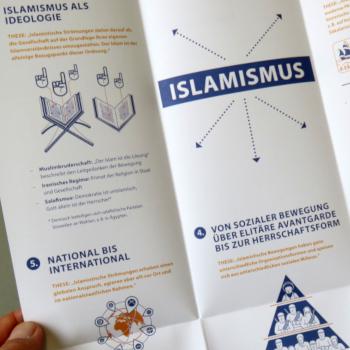 """ufuq.de-Faltblatt """"Islamismus"""" (Ausschnitt); Bild: ufuq.de"""