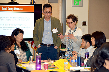 Bay Area Minority Millennials Healthcare Access Forum participants engage in an activity to create art that represents solutions to healthcare access challenges faced by millennials.