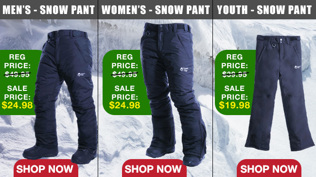 Standard Ski and Snowboard Pants 50% OFF