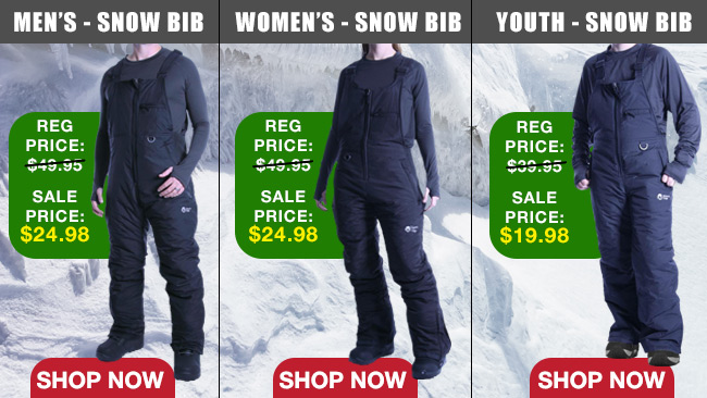 Bib Ski and Snowboard Pants 50% OFF
