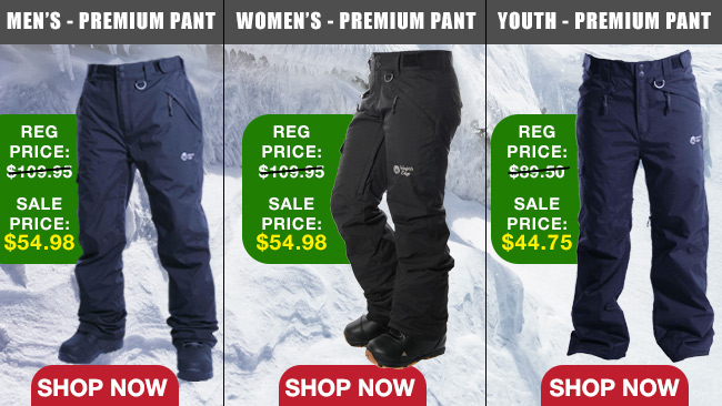 Premium Ski and Snowboard Pants 50% OFF