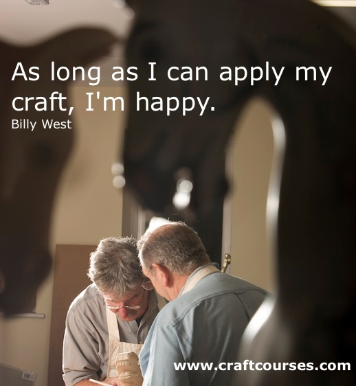 Poster of Anthony Dew 'As long as I apply my craft, I'm happy.'