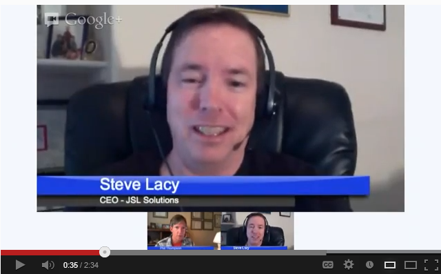 Steve Lacy on Google Hangout