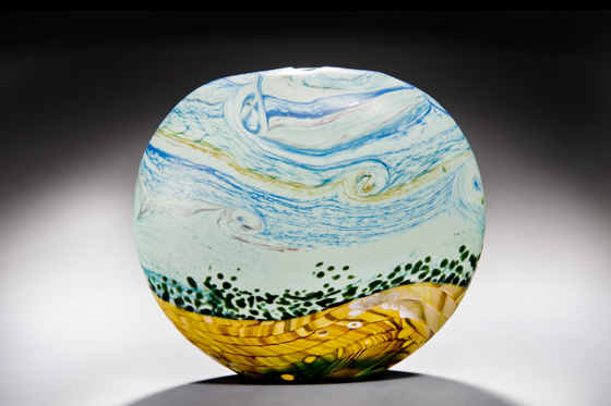 Peter Layton 'Wheatfield' at London Glassblowing Summer Open House