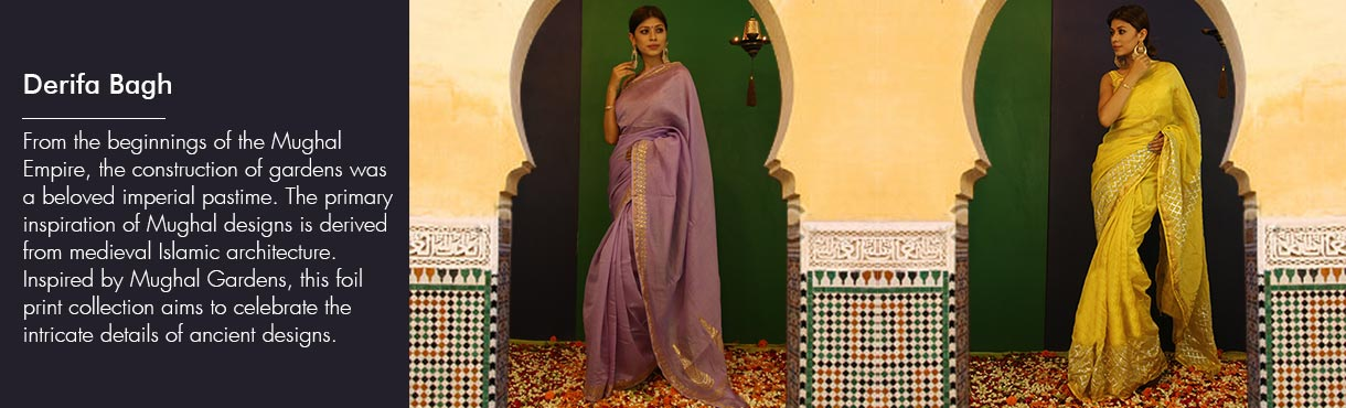 Foil Printed Sarees and Dupattas