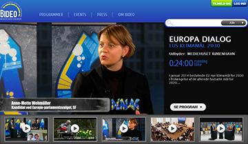 Bideo.dk - Danmarks største og eneste web-tv bibliotek om EU og Europa