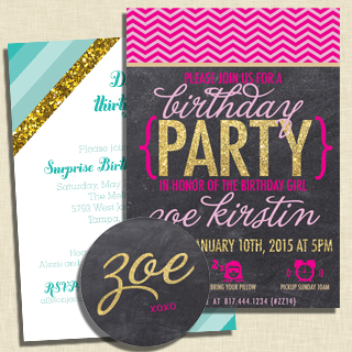 Glitter Party Invitations